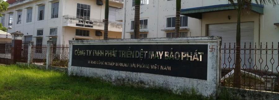 Vệ sinh nhà xưởng dệt may Bảo Phát, khu công nghiệp Nomura Hải Phòng