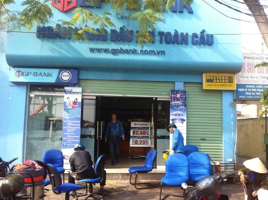 Giặt ghế văn phòng tại Ngân hàng GP Bank Chi nhánh Hải Phòng